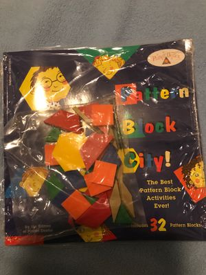 Pattern Block City! book & blocks for Sale in Columbia, MD