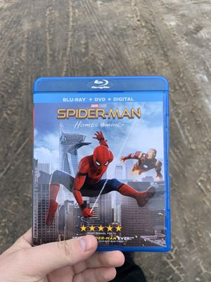 Spider-Man Homecoming Blu-Ray & DVD combo (just discs, no digital code) for Sale in Traverse City, MI