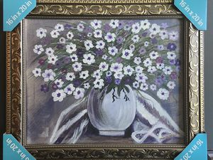 Flower in Vase Painting- Framed for Sale in San Diego, CA