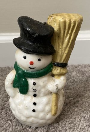HOLIDAY WAX CHRISTMAS SNOWMAN HOME DECORATION ACCENT for Sale in NC, US
