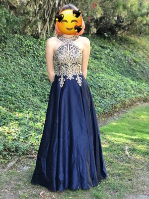 Elegant Navy Blue sequin studded prom dress for Sale in Rancho Palos Verdes, CA