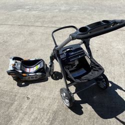 CHICCO BABY STROLLER AND CAR SEAT BASE for Sale in Houston,  TX