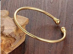 New 18K Bangle Bracelet Cuff Fashion Simple Open Bangles Two Bead Cuff Jewelry for Women for Sale in Miramar, FL