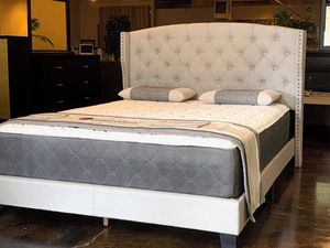 BRAND NEW QUEEN SIZE BED AND MATTRESS (FREE DELIVERY) for Sale in Dallas, TX