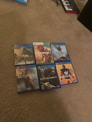 Ps4 games and one Xbox 360 max Payne for Sale in Gastonia, NC