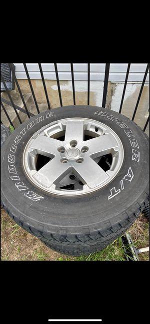 Set of Five JK OEM wheels. 255/70/18 for Sale in Laurel, MD
