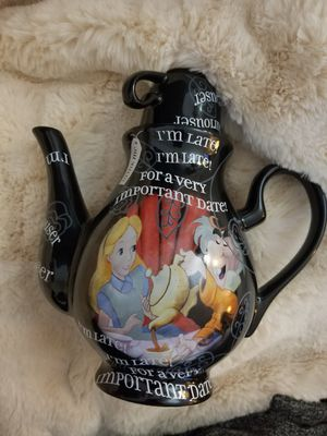 RARE Disney Collection Alice in Wonderland Tea Party Large Black Teapot NEW for Sale in Los Angeles, CA