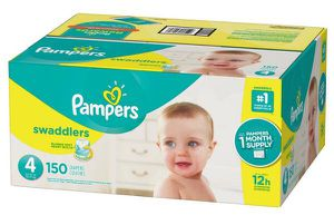 Pampers Swaddlers Diapers | Size 4 | 150 ct for Sale in Boston, MA