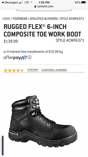 Carhartt work boots 9 1/2 brand new for Sale in Newtown Square, PA
