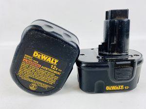 Dewalt DW9072 12V Batteries for Sale in Mint Hill, NC