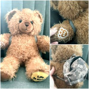 Build a Bear Classic Teddy with Backpack Accessory for Sale in Livonia, MI