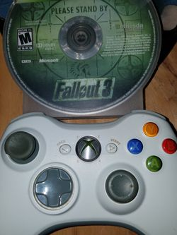 Xbox 360 Ccontroller Microsoft Wireless OEM with Fallout 3 Xbox360 for Sale in Vancouver,  WA