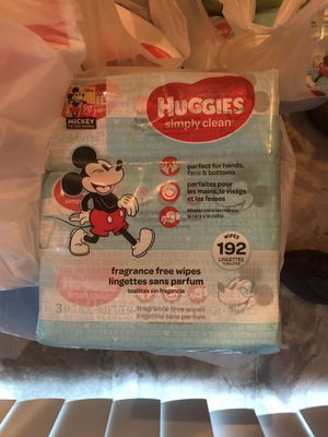 Huggies baby wipes 192 ct for Sale in Columbus, OH