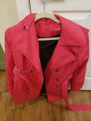 Hot pink Calvin Klein Peacoat-only worn once! for Sale in Alexandria, VA