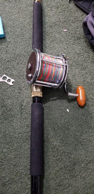 Shark fishing combo penn senator 6/0 w/ 150lb braid and XH 6ft rod for Sale in Midlothian, VA