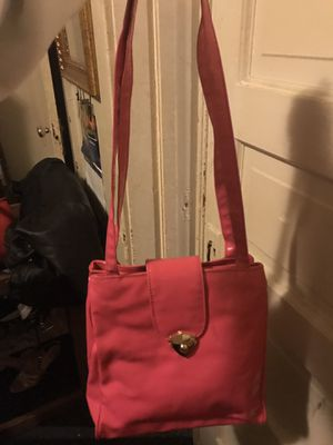 Bright pink large vinyl tote bag for Sale in Clayton, MO