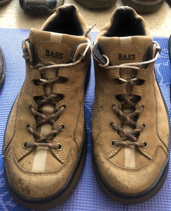 Men's Bass Tan Real Leather Work Boots - Size 11.5