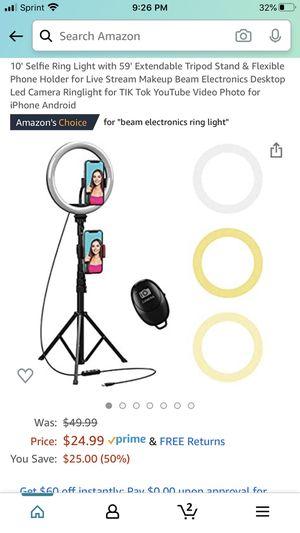 "Fill light size 10"" selfie ring light . for Sale in Fort Lauderdale, FL"