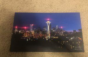 Seattle Skyline Lightup Canvas for Sale in Mesa, AZ