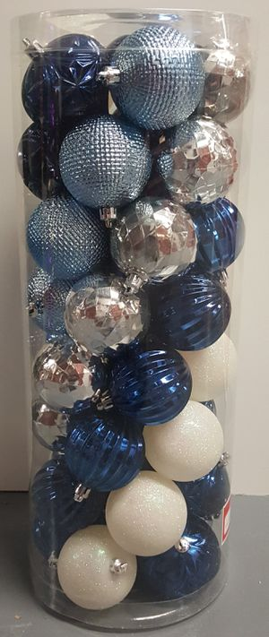 Christmas ornaments shade of blues for Sale in Passaic, NJ