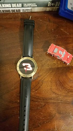 Dale Earnhardt collectible watch and Dale Earnhardt jr. Toy model car for Sale in Butner, NC