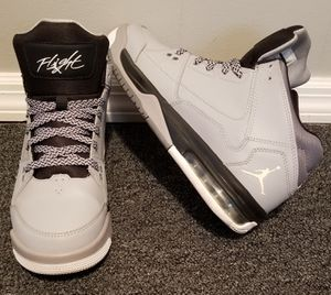 Nike Air Jordan Flight Origin BG Basketball Sneakers Size 7Y Boys Girls Youth Gray Black Grey Shoes for Sale in Tampa, FL