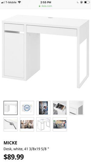 White ikea desk for Sale in Pacific, WA