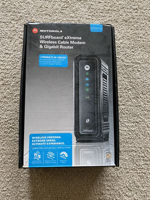 Motorola surfboard extreme wireless cable modem & gigabit router for Sale in Clackamas, OR