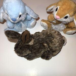 NEW (3) Dan Dee Baby Rabbit Plush Lot for Sale in Burrillville, RI
