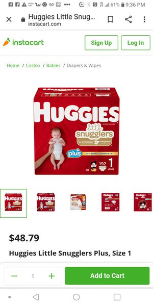 Huggies little snugglers size 1 for Sale in Las Vegas, NV