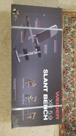 Weider XR 5.9 Slant Bench Weight Gym NEW for Sale in Dublin, OH