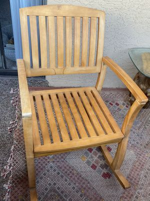 Wooden rocking chair set for Sale in Phoenix, AZ