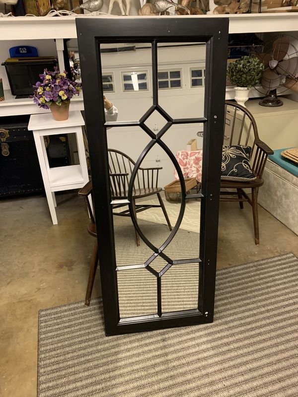 Large Black Onyx Abstract Mirror