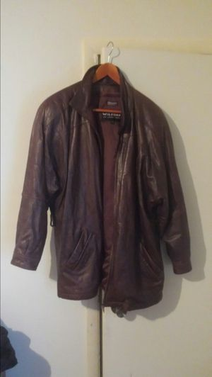 Nice Wilson leather jacket large for Sale in Newport News, VA