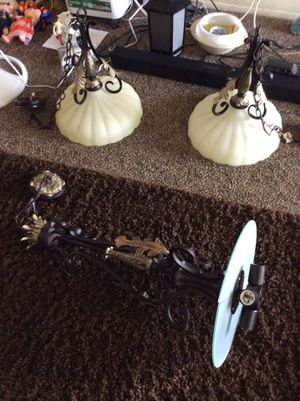 Beautiful set of 3 light fixture ceiling light set all for 300 for Sale in National City, CA