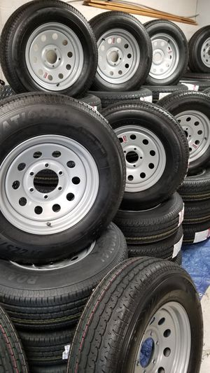 NEW TRAILER TIRES AND WHEELS STARTING AT $70 AND UP for Sale in Douglasville, GA