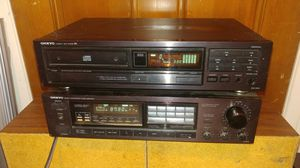 ONKYO Vintage Stereo Receiver TX-810 and matching CD Player DX-1800 from 1990 both made in Japan for Sale in Peoria, AZ