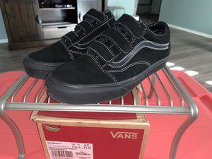 Old Skool black Velcro vans men's 9.5 women's 11 for Sale in Del Valle, TX