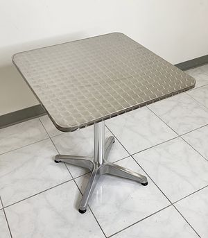 "New $25 Aluminum 24""x24"" Square Table Indoor Outdoor Stainless Steel Top with Base, Height 27"" for Sale in Whittier, CA"