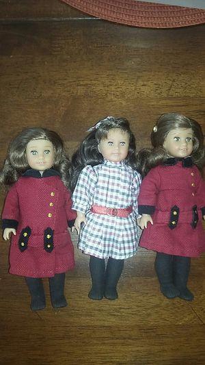 American Girl Doll 8 Inch Mini Set of 3 for Sale in Costa Mesa, CA