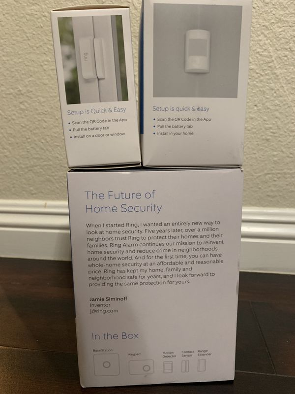 Ring ring alarm system , ring motion detector , ring contact sensor for  Sale in Montclair, CA - OfferUp