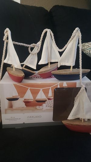 Sailboat garland for Sale in Moreno Valley, CA
