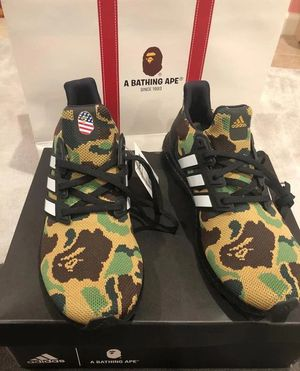 Adidas Ultra Boost 4.0 x Bape. Size 10. New. Never Worn. for Sale in Raleigh, NC
