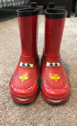 Disney Cars rain boots size 11/12 for Sale in Chesapeake, VA