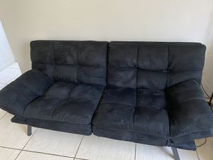 Black Sofa, Recliner (Memory Foam ) for Sale in Miami Beach, FL