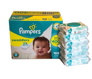 Pampers Swaddlers Diapers/Pampers Sensitive Wipes for Sale in Pembroke Pines, FL