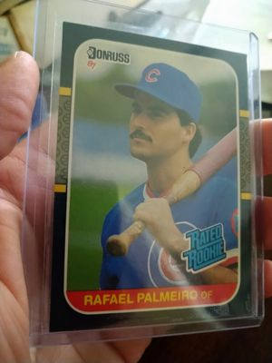 Chicago Cubs Rafael Palmeiro 1987 Donruss Rated Rookie #43 Rookie Baseball Card for Sale in Tampa, FL