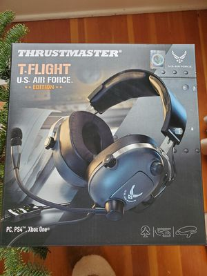 Thrustmaster T.FLIGHT Air Force gaming headset brand new headphones PS4 Xbox PC microphone for Sale in Tacoma, WA