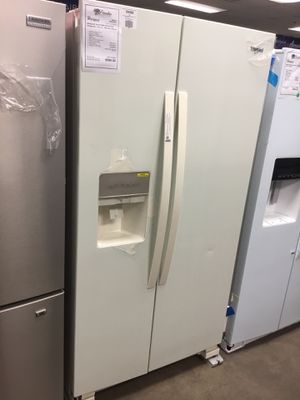 New Whirlpool Bisque 24 CuFt Side By Side Refrigerator Fridge for Sale in Chandler, AZ
