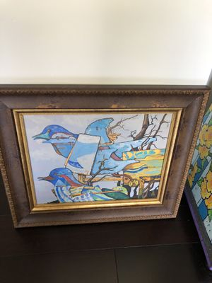 """Original art by David Siffert 16""""x20"""" framed abstract birds for Sale in Aloma, FL"""